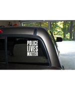 Police Lives Matter Support Police Love Police Heart Police Car Truck Automotive Window Black or White Decal Bumper Sticker 6.3