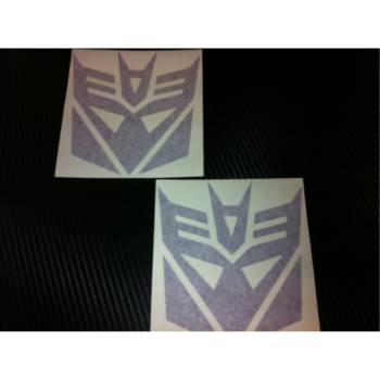 1 Pair of Decepticons Transformers Racing Decal Sticker (New) Purple Size 5''x4.7''