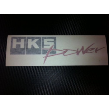 1 X HKS Power Racing Decal Sticker (New) Black/red Size 7