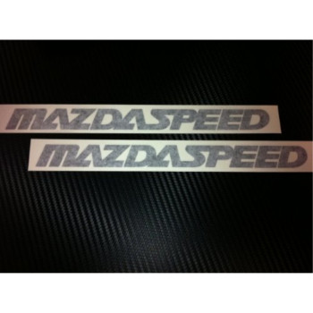 1 Pair of Mazdaspeed Racing Decal Sticker (New) Black Size 9''x 0.8''