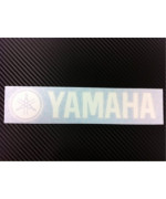 1 X 2 X Yamaha Racing Decal Sticker (New) White Size 8''x1.75''