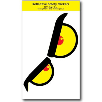 Angry Eyes REFLECTIVE Decals