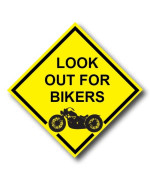Look out for Bikers REFLECTIVE Decal