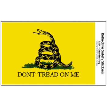 Don't Tread on Me (Gadsden) Flag REFLECTIVE Decal