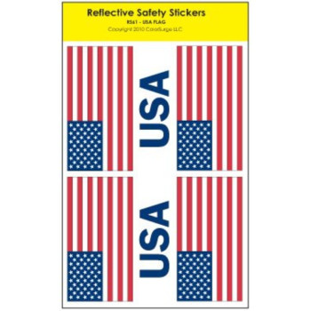 Reflective Safety Stickers - USA Flag