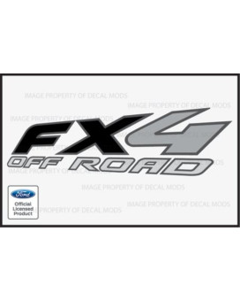 Ford Ranger FX4 OffRoad BLACK Decals Stickers - FB (1997-2012)