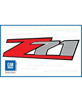 Decal Mods Z71 Decals Stickers Fits Chevy Silverado - F (2007-2013) Bed Side 1500 2500 Hd (Set Of 2)