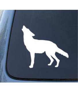 WOLF SILHOUETTE - Howling - Car, Truck, Notebook, Vinyl Decal Sticker #1184 | Vinyl Color: White