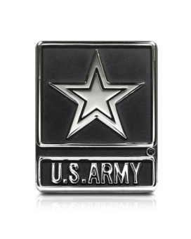 United States Army Star Chrome Metal Auto Emblem, Official Licensed