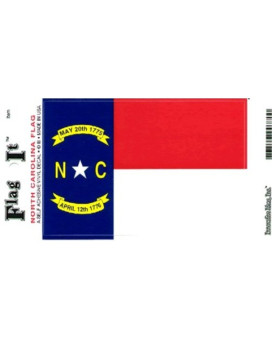 North Carolina flag decal for auto, truck or boat