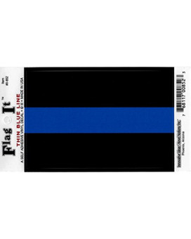 Thin Blue Line decal for auto, truck or boat