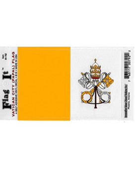 Vatican City flag decal for auto, truck or boat