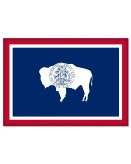 Wyoming State Flag car bumper sticker 5