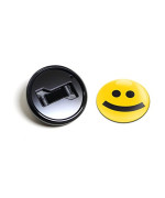 GoBadges BKC011 Black Mounting Kit and 'Type Face Smile' GoBadge Combo