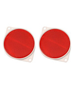 "Hy-Ko CDRF-3R Nail on Reflector, 3"", Red"