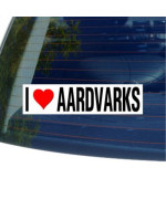 I Love Heart AARDVARKS - Window Bumper Sticker