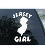 """6"""" Jersey Girl - New Jersey State Decal Sticker (6"""", Brown)"""