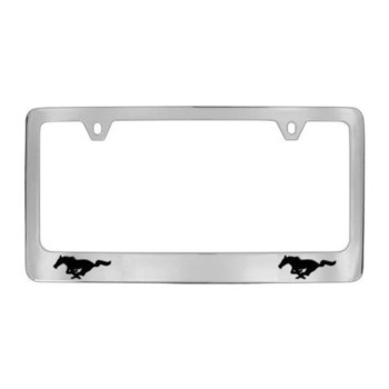 Ford Mustang Black Pony Chrome Plated Brass Frame - BLANK