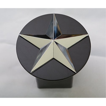 """Texas Lone Star 3d Chrome Emblem Trailer Metal Hitch Cover Fits 2"""" Receivers"""