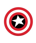Licenses Products Marvel Comics Retro Captain America Shield Sticker