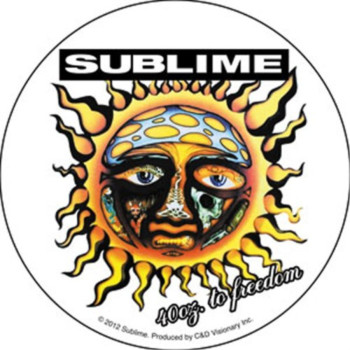 Licenses Products Sublime 40 Oz To Freedom Sticker