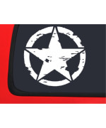 OSCAR MIKE JEEP X 2 - military star window decal sticker Wrangler tj jk cj yj xj