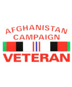 "AFGHANISTAN CAMPAIGN VETERAN CAMPAIGN RIBBON OUTSIDE DECAL 3""X5"""