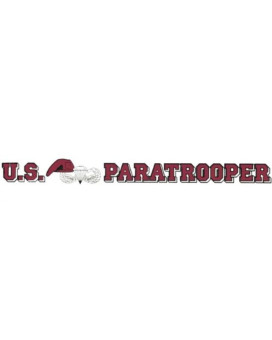 U.S. Paratrooper 20 Inch Window Strip Army Outside Decal