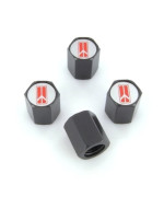 Oldsmobile Rocket Logo Black Tire Stem Valve Caps