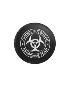 Pilot Automotive CM-06W Small Zombie Spare Tire Cover- White Logo