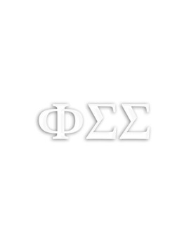 Officially Licensed Kappa Sigma 6 x 3 Window Decal White