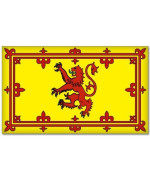 "Scottish Lion Rampant Scotland Flag car sticker 6"" x 4"""