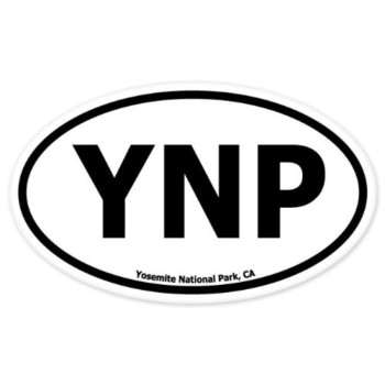 "Yosemite National Park Oval car bumper sticker 5"" x 3"""