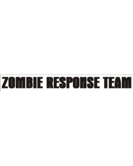 ZOMBIE RESPONSE TEAM decal sticker zrt outbreak car, Black
