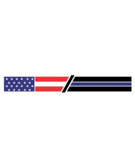 Fallen officer memorial flag thin blue line american usa us united states flag vinyl decals bumper stickers