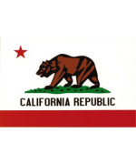 California Flag - Bear with Star & California Republic - Sticker / Decal