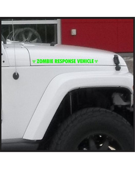 Zombie Response Vehicle Fender Sticker / Decal for jeep 4x4 Truck Car - Matte Black / White / Silver / Lime Green (Lime Green)