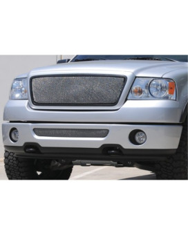 TRex Grilles 44557 Small Mesh Stainless Chrome Finish Sport Grille Overlay for Ford F150 2WD