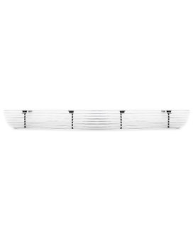 TRex Grilles 25552 Horizontal Aluminum Polished Finish Billet Bumper Grille Overlay for Ford F150