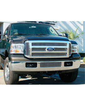 TRex Grilles 21561 Horizontal Aluminum Polished Finish Billet Grille Overlay for Ford Super Duty Excursion