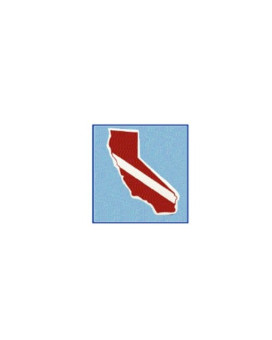 Trident Large State Dive Flag Stickers California