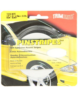 Trimbrite T1210 Trim Stripe 1/4 Pin White