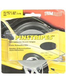 Trimbrite T1214 Trim Stripe 1/4 Pin Black