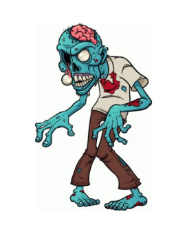 Zombie Eyes Car Bumper Sticker Decal 3