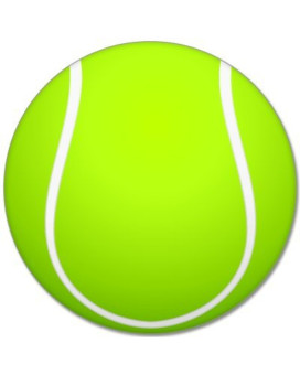 "Tennis sport ball car bumper sticker 4"" x 4"""
