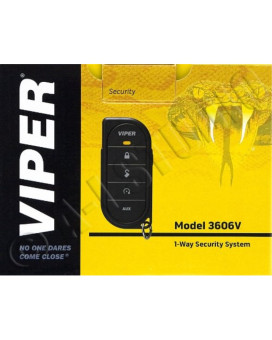 Viper 3606V 1-Way Security System