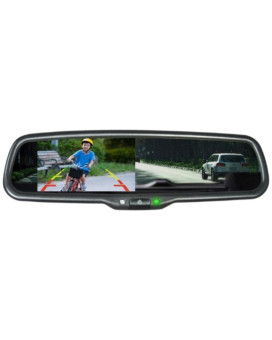 """Vission AM-43RVM Black 4.3"""" Factory Replacement Rearview Mirror Monitor"""
