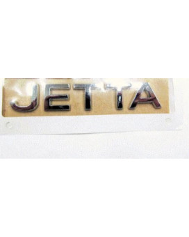 VW Volkswagen Jetta Emblem Decal Nameplate Chrome GENUINE OEM NEW