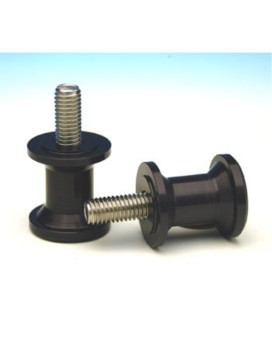 Yamaha R6 Woodcraft 6mm Black Aluminum Swingarm Spools