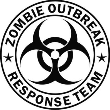 Zombie Outbreak Response Team Black Die-Cut Vinyl Decal Sticker